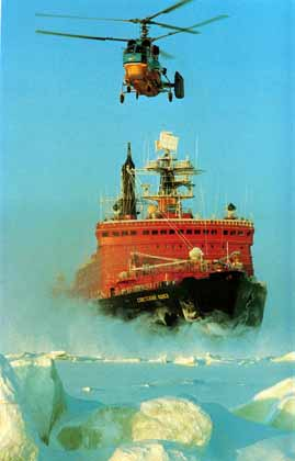 russian nuclear-powered icebreaker, 50 Let Pobedy, northern fleet Kola Peninsula Russia Murmansk Shipping Company Arktika-class icebreakers,50 Years of Victory, Arktika Sibir Rossiya Sovetskiy Soyuz Yamal Lenin Taymyr-class river icebreakers Taymyr and Vaygach