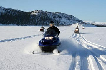 Snowmobile tours Kola Peninsula