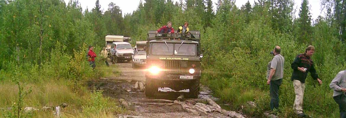kolatravel 4x4 holidays arctic trophy awd army bus tours polar off-road adventures jeep expeditions northwest russia karelia murmansk region extreme expedition adventure