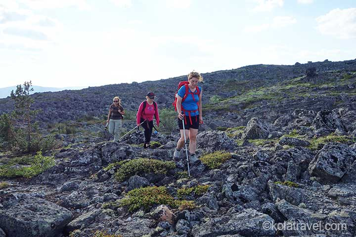 kola peninsula monche tundra tundra hiking hiking excursion excursion russia waterfall devichyi Kosi lapland reservation