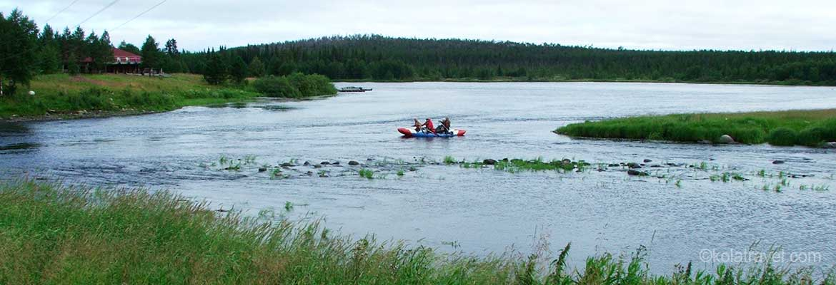 kolatravel water tours kayaking rafting holidays paddling kayak rent rental rivers lakes kola peninsula russian lapland northwest russia murmansk region